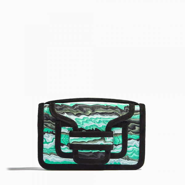 Cheap PIERRE HARDY ALPHA CROSS BODY CLUTCH GREEN Online