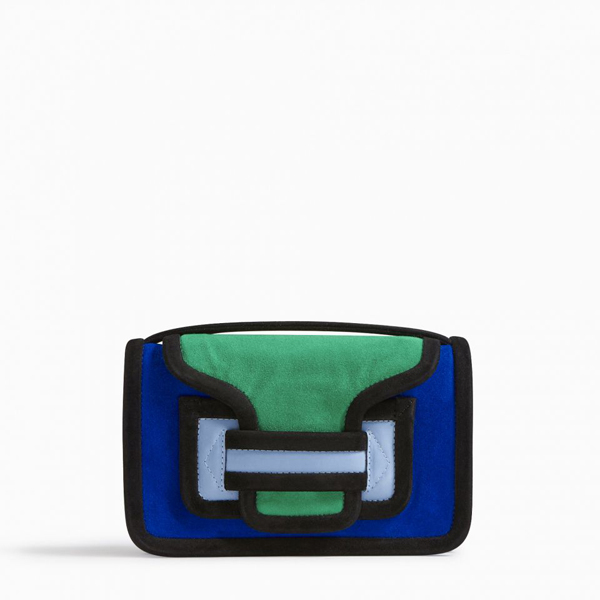 Cheap PIERRE HARDY ALPHA CLUTCH blue green  Online