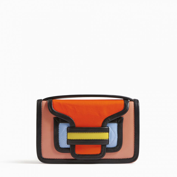 Cheap PIERRE HARDY ALPHA CLUTCH pink orange Online
