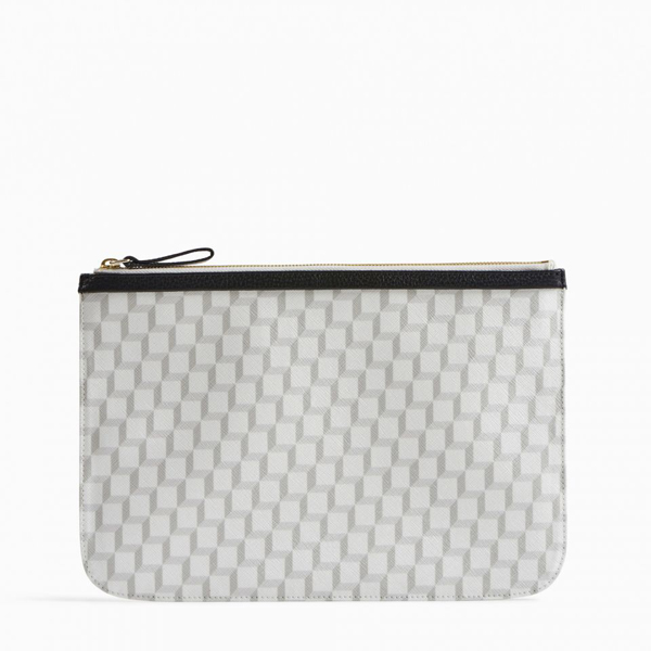 Cheap PIERRE HARDY PERSPECTIVE CUBE LARGE POUCH White Online