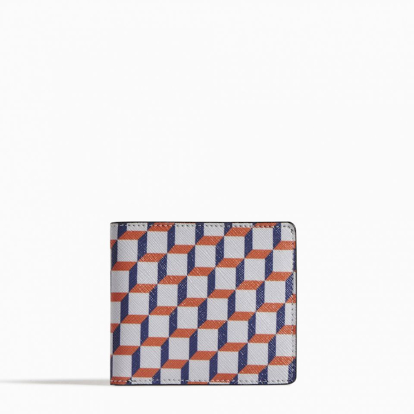 Cheap PIERRE HARDY PERSPECTIVE CUBE WALLET White and blue Online