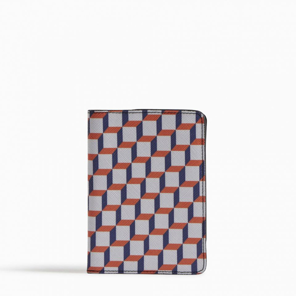 Cheap PIERRE HARDY PERSPECTIVE CUBE PASSPORT HOLDER White and blue Online
