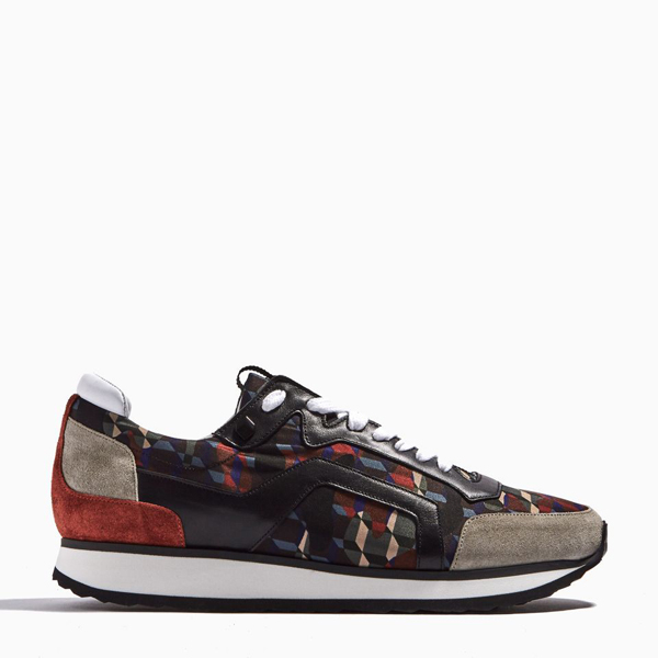 Cheap PIERRE HARDY TRACK SNEAKERS grey & orange Online