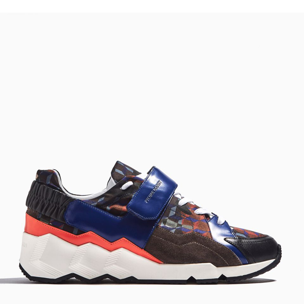 Cheap PIERRE HARDY COMET SNEAKERS Orange & brown Online
