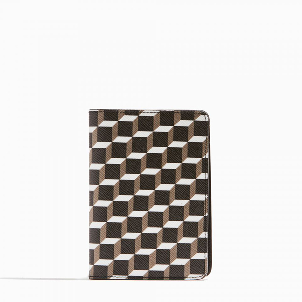 Cheap PIERRE HARDY CUBE PERSPECTIVE PASSPORT COVER black & white Online