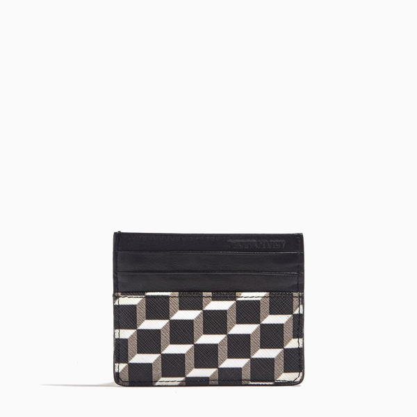 Cheap PIERRE HARDY PERSPECTIVE CUBE CALF CARD CASE Black & white  Online
