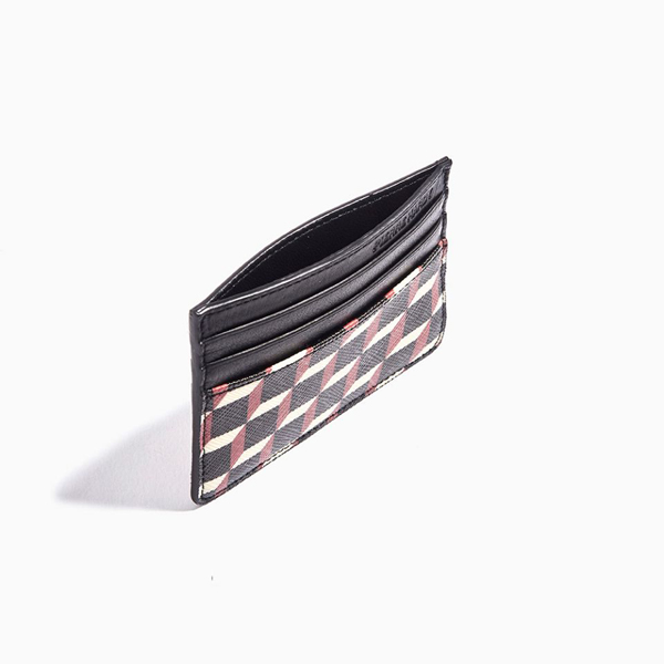 Cheap PIERRE HARDY PERSPECTIVE CUBE CARD CASE Black & red Online