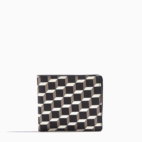 Cheap PIERRE HARDY CUBE PERSPECTIVE WALLET Black & white Online