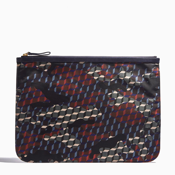 Cheap PIERRE HARDY NYLON CAMOCUBE EXTRA LARGE POUCH Navy Online