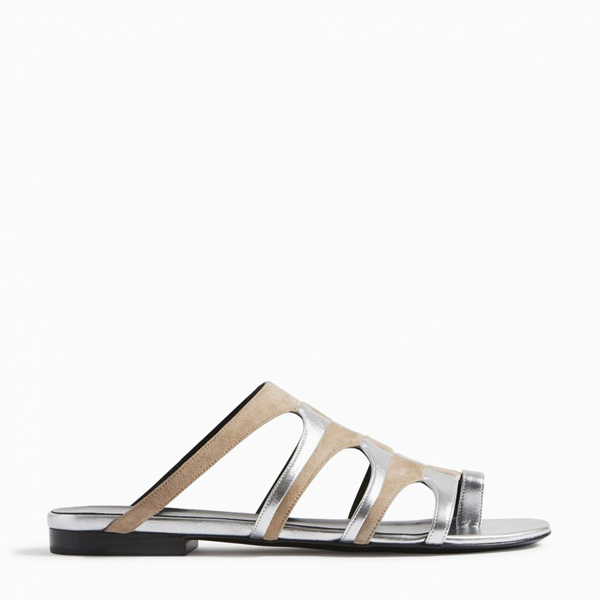 Cheap PIERRE HARDY PARADE SANDAL NUDE SILVER Online