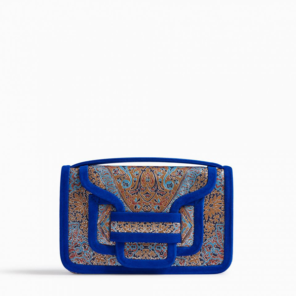 Cheap PIERRE HARDY ALPHA CLUTCH MULTICO BLUE Online