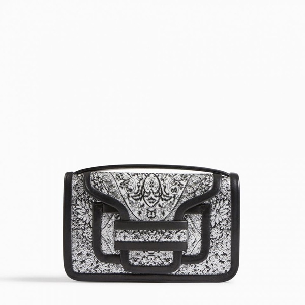 Cheap PIERRE HARDY ALPHA CLUTCH black white Online