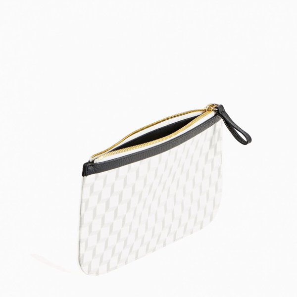 Cheap PIERRE HARDY PERSPECTIVE CUBE MEDIUM POUCH black white Online
