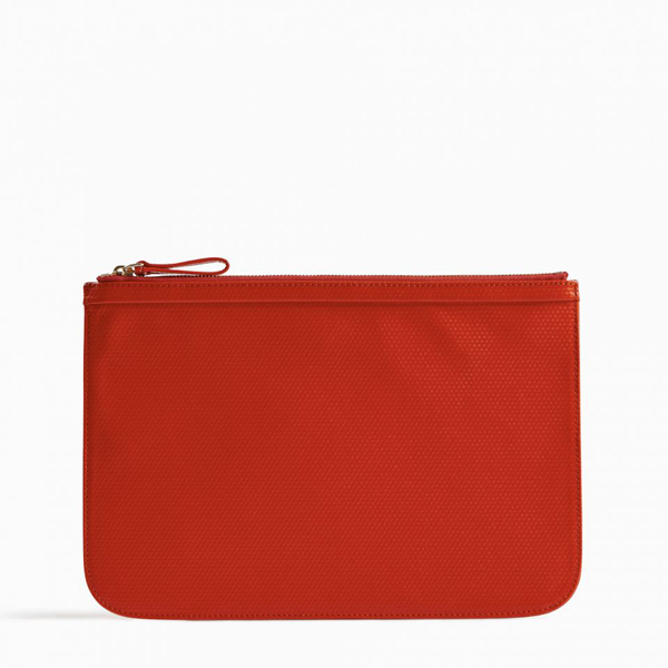Cheap PIERRE HARDY PERSPECTIVE CUBE LARGE POUCH Red Online