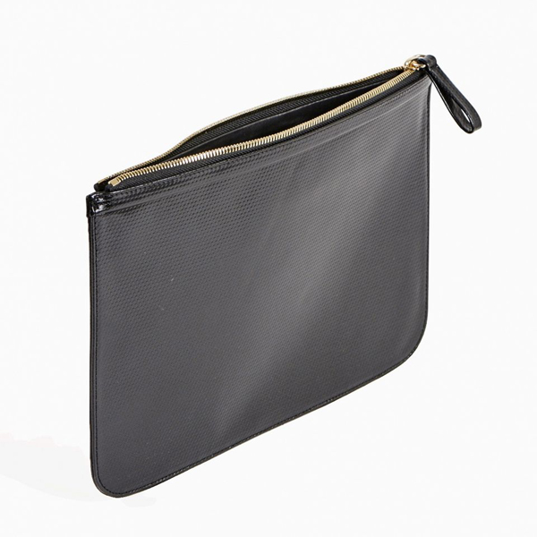 Cheap PIERRE HARDY PERSPECTIVE CUBE STRIPES EXTRA LARGE POUCH Black Online