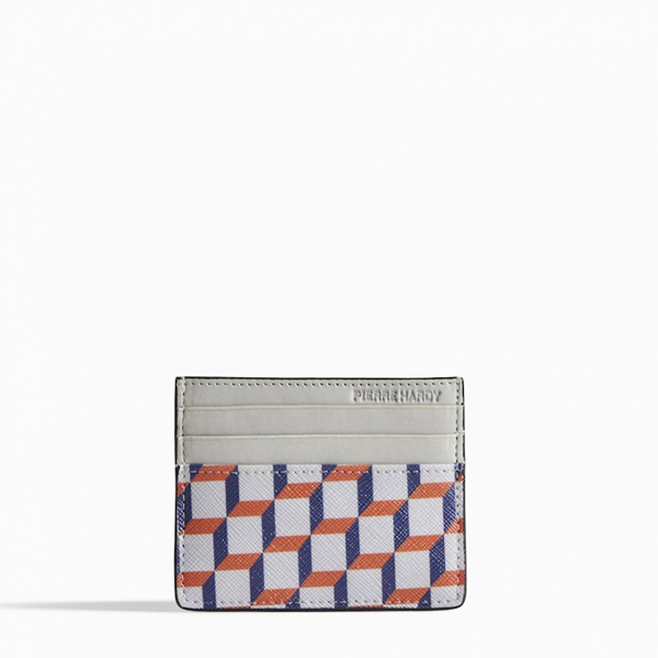 Cheap PIERRE HARDY PERSPECTIVE CUBE CARD CASE Blue, red white Online