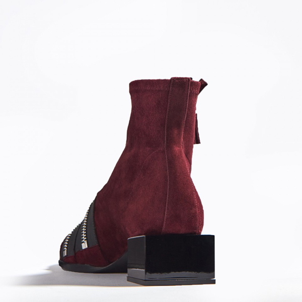 Cheap PIERRE HARDY LOU ANKLE BOOT BURGUNDY Online
