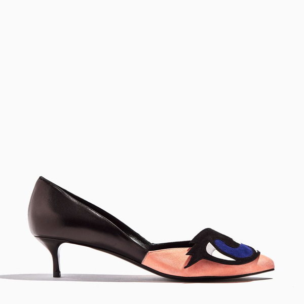 Cheap PIERRE HARDY OH ROY PUMP pink & black Online